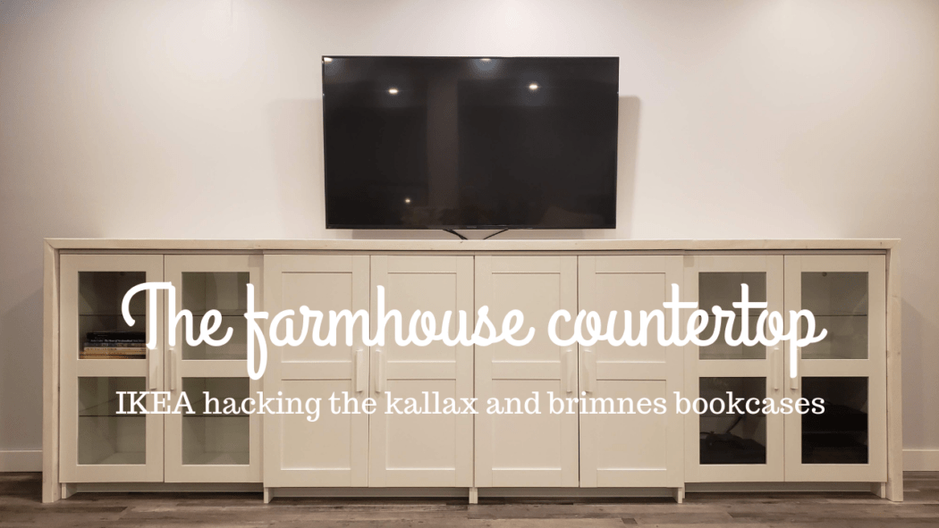 Ikea Hack The Kallax Brimnes Farmhouse Countertop The Homestud