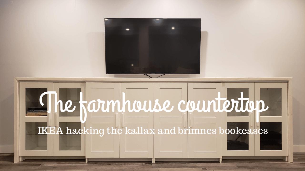 Ikea Hack The Kallax Brimnes Farmhouse Countertop The