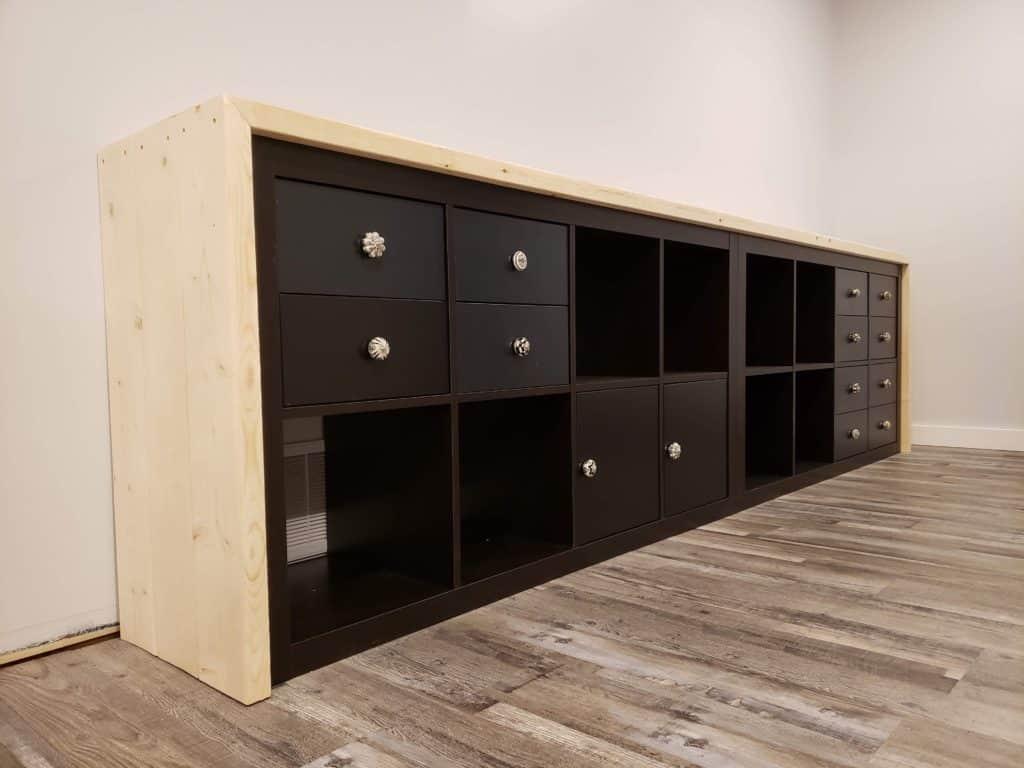 IKEA hack! The kallax/brimnes farmhouse countertop - THE HOMESTUD