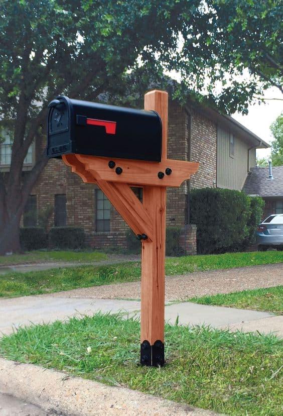 Diy Mailbox Post Designs And Ideas