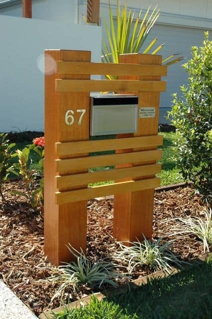 Diy Mailbox Post Designs And Ideas The Homestud